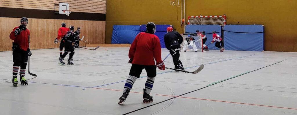Bulldogs beim Hockeyspiel